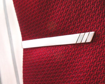 Three Lines Tie bar- sterling silver