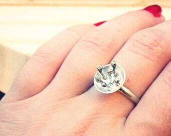 Flower Ring-sterling silver