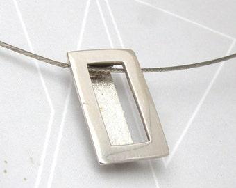 Rectangular Pendant-sterling silver