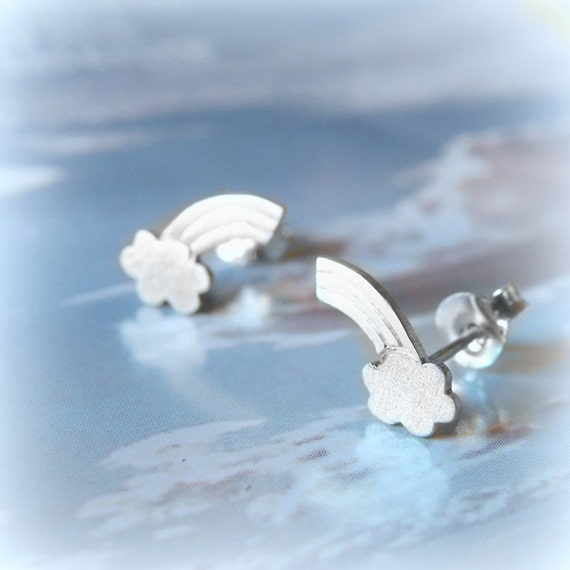 Little rainbow Earrings-sterling silver