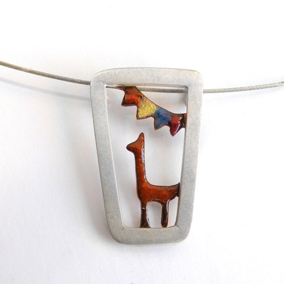 Carnaval 2 Pendant-sterling silver and enamel