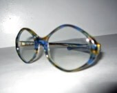 vintage 1960s blue glasses sunglasses UNIVERSAL NOS