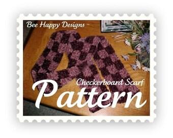 PDF - Checkerboard Scarf Knitting, Loom Pattern