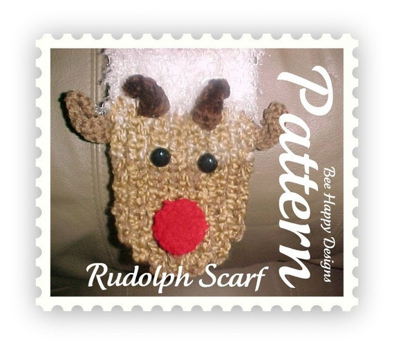 Instant PDF - Rudolph Scarf Knitting Board Pattern