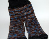 Blue,Brown, and Black wool longies soakers size Large