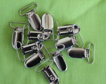 """1"""" Suspender and Pacifier Clips    25 pieces"""