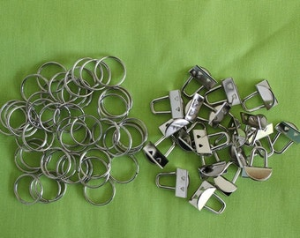 Mini Key Fob/Key Chain Hardware - 25 sets