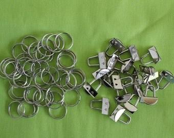 Mini Key Fob/Key Chain Hardware - 10 sets