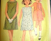 Vintage Simplicity 6378 Pattern  Girls Dress Size 14