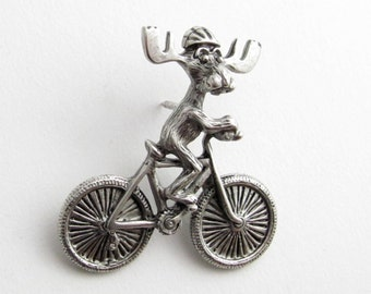 Markie Moose Bicycle tac pin pewter - LAST ONE