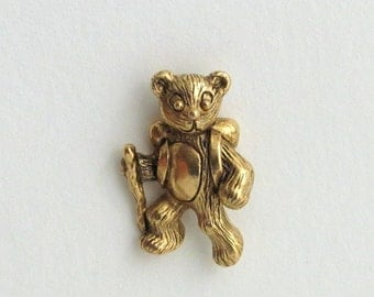 T Bear Hiker tac pin gold finish