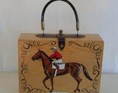 "Vintage Enid Collins of Texas ""Sport of Kings"" box purse"