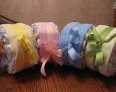 Mini Diaper cake/Diaper bundle