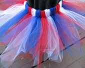 Patriotic Red, White, and Blue Custom Pixie Cut Tutu - Sizes 0-24 months