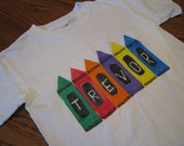 Custom Crayon T shirt or Creeper - Personalized