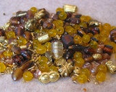 Amber and Brass Destash Mix
