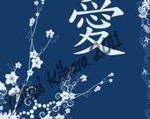 Japanese LOVE Kanji 8 x 10 Art Print
