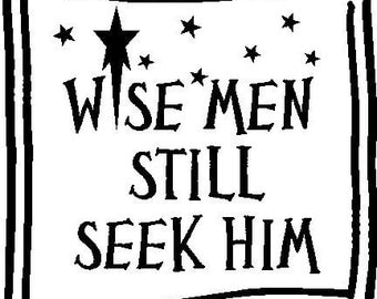 Wise Men Seek Him Vinyl Lettering Wall Word Tiles Decal
