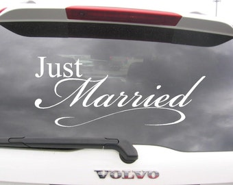 Just Married Wedding Car Decoration Vinyl Decal Sticker