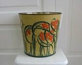 Vintage Arts/Crafts Trash Can