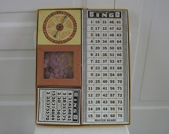 Vintage Bingo Game, Bingo Board Game, Vintage Game, Retro Game, Bingo Cards, Child Game