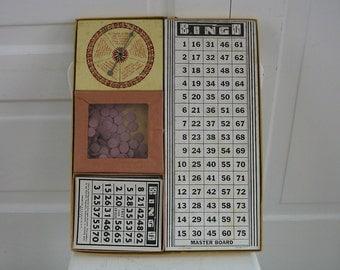 Vintage Bingo Board Game Supply Ephemera Toy Children