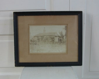 Vintage Photograph, Black and White Photograph, Sepia Toned Photograph, Vintage Framed Photograph