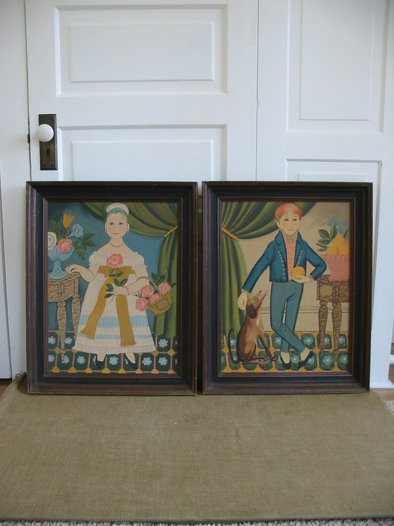 PAIR of Funky, Unique, Wacky Framed Art