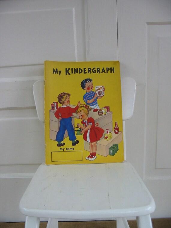 Children School Book Workbook Activity Coloring Kindergarten Ephemera