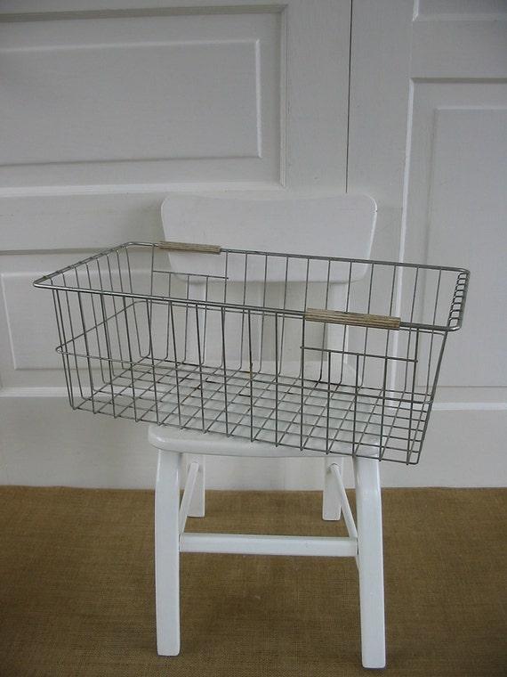Wire Metal Basket Industrial Vintage