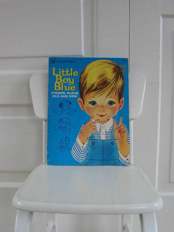 Vintage Children Book Golden Finger Plays Workbook Sixties Nursery Rhymes Boy