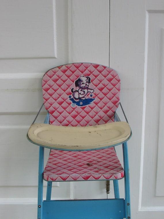 Doll High Chair Metal Dog Girl Toy Children