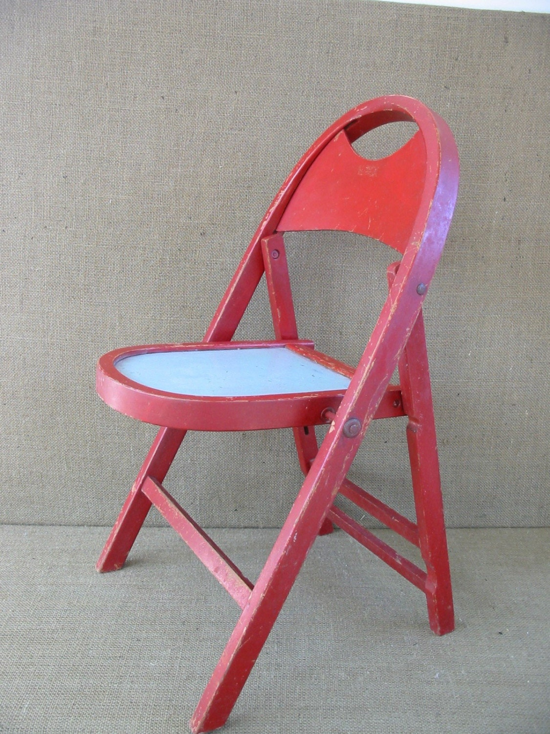 Child s Folding Chair Children s Chair Red Vintage