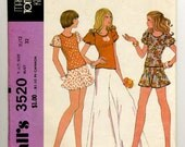 Vintage 70s McCall's 3520 Sewing Pattern