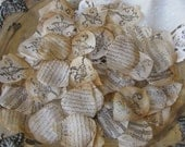 Wedding  Flower Petals  Tea Stained Hand Stamped