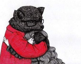 Furry  - Signed Archival Print, by Ani Castillo.