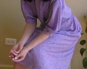 Vintage Lilac Floral Dress