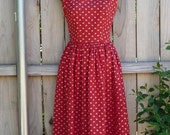 Red vintage Lanz summer dress