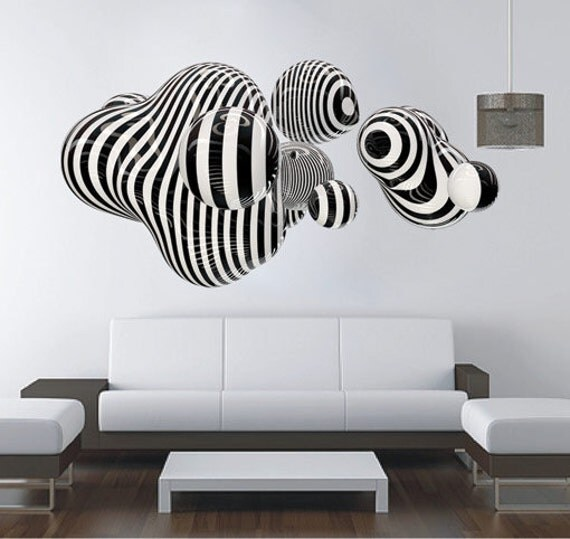 items similar to 3d shape wall art for housewares in vinyl. Black Bedroom Furniture Sets. Home Design Ideas