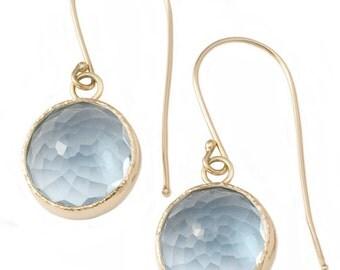 14k Somethin blue earrings