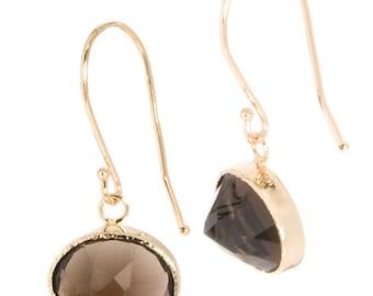 14k Nena Earrings with Smokey Quartz,