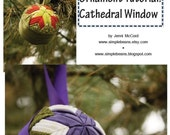 Cathedral Window Quilted Fabric Ball Ornaments Pattern and Tutorial