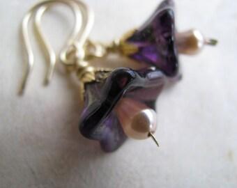 Lavender Blossom Earrings