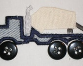 Cement Truck Machine Embroidery Applique Design