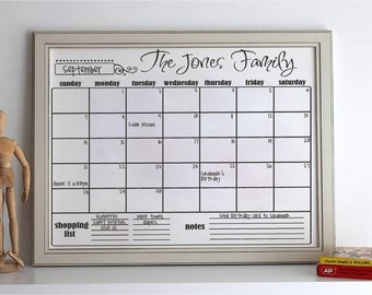 "16x20"" Personalized Vinyl Calendar ----Choose from 9 designs----"