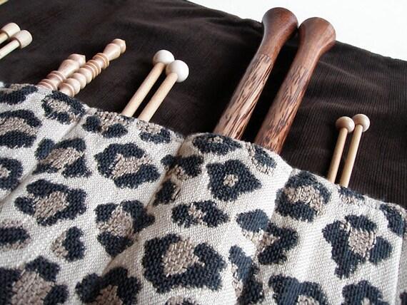 Luxury Straight Knitting Needle Case // Holder // Roll // Organizer // Gift for Knitter