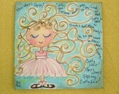 Curly Hair Is Pretty Original Painting Made To Order Art for Girls YelliKelli