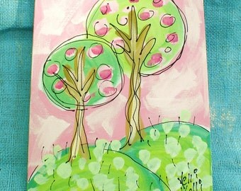 Little Trees Original Painting Made to Order