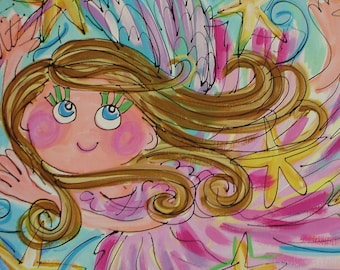 Fluffy Fairy Painting Custom Made To Order