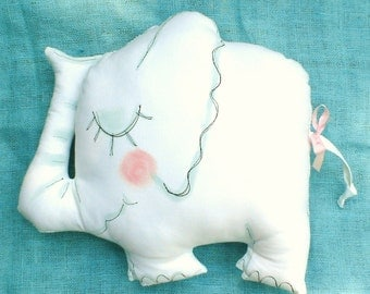 Elephant Pillow Autograph Decorative Made to Order